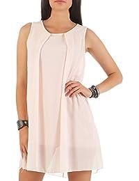 cafc489dcf5f Malito Damen Kleid ärmellos   Elegantes Minikleid   Etuikleid mit  Unterkleid   Etuikleid mit Rücken Cut