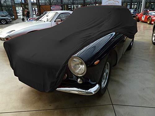 AMS Vollgarage Mikrokontur® Schwarz für Ferrari 250GTE, schützende Autoabdeckung mit Perfekter Passform, hochwertige Abdeckplane als praktische Auto-Vollgarage