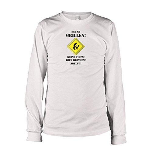 TEXLAB - Bin am Grillen - Langarm T-Shirt Weiß