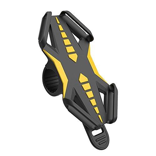 VOGEK Fahrrad Handyhalter, Universal Silikon Handyhalterung Fahrrad Motorradhalter Fahrradlenker Handy Halterung für iPhone/Samsung/BlackBerry/HTC/GPS GPS oder Geräte mit 4-6 Zoll Bildschirm