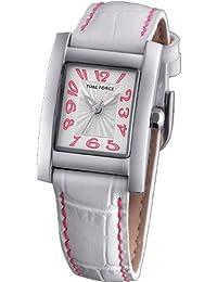 Reloj TIME FORCE de niña o señora. Acero Correa de piel. Blanco TF-3190B02