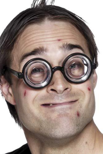 Nerdbrille Schwarz, One Size