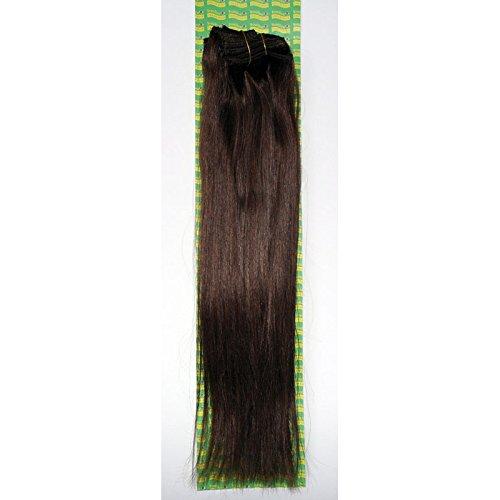 'Dream Hair Extensions à clip Lot de 8 Pièces lisse 22/56 cm Marron en cheveux