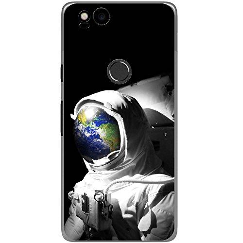 Astronautenanzug & Spiegelbild der Erde Hartschalenhülle Telefonhülle zum Aufstecken für Google Pixel 2