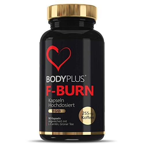 ANGEBOT F-BURN BODYPLUS Stoffwechsel für Fettstoffwechsel und Energiestoffwechsel, 90 Vegane Kapseln Hochdosiert mit Koffein L-Carnitin Grüner Tee