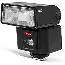 Metz 311186 - Flash para Fujifilm (ISO 100 y 105 mm, luz de vídeo LED, zoom motorizado 24-105 mm), negro