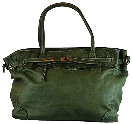 BZNA Bag Mila Grün verde vintage Italy Designer Business Damen Handtasche Ledertasche Schultertasche Tasche Leder Shopper Neu - Prada Shopper Tasche