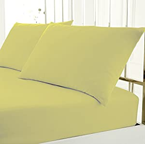 Plain Pollycotton Everday Use Easycare Fitted Sheet