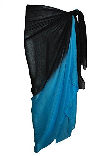 Zweifarbiger Sarong aus 100% Rayon-Viskose, 100 cm x 180 cm von  Passion4fashion