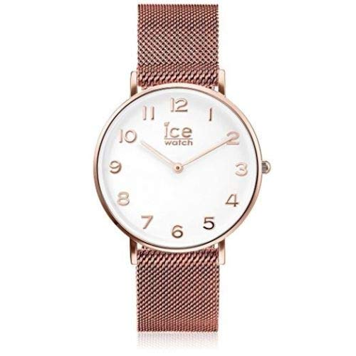 Ice-Watch OROLOGIO CITY DONNA SOLO TEMPO LADY PVD ROSE GOLD WHITE DIAL MAGLIA MILANESE MESH 012711