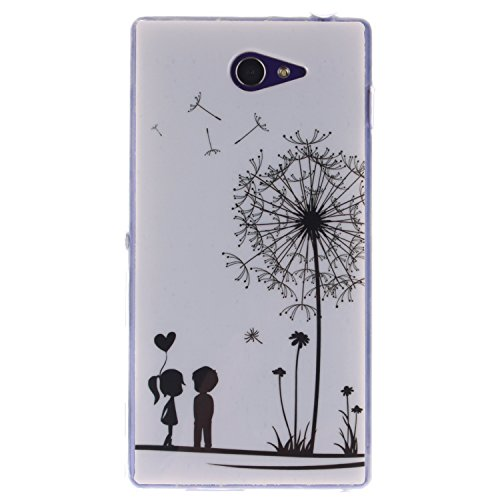 Sony Xperia M2 Custodia,Cozy Hut Stilosa custodia di design in