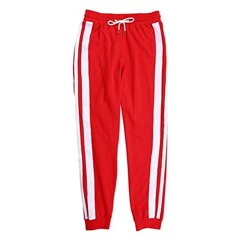 Donna Pantaloni sportivi Pantaloni da cotone Pantalone casual Pantaloni da slitta Pantalone da spalla per corsa, passeggiare, jogging, sport Nero Bianco Rosso S M L Highdas Red