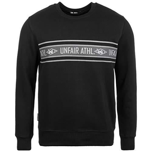 Unfair Athletics Athletics Striped Sweatshirt Herren schwarz/grau, L