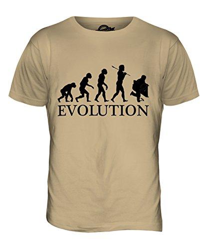 CandyMix Installateur Klempner Evolution Des Menschen Herren T Shirt Sand