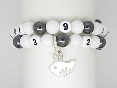 Bracelet d'allaitement Personnalisable avec Breloque au Choix Cadeau Naissance Future Maman