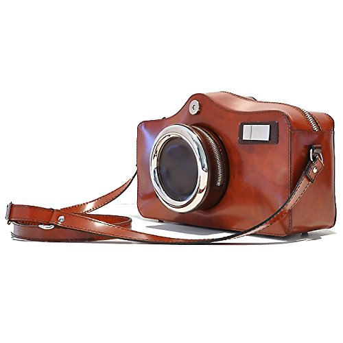 Pratesi Photocamera Sacs portés main - R444 Radica (Crème) Jaune