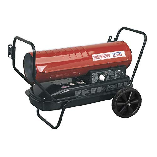 Sealey AB1258 Space Warmer® Paraffin/Kerosene/Diesel Heater 125,000Btu/hr with Wheels