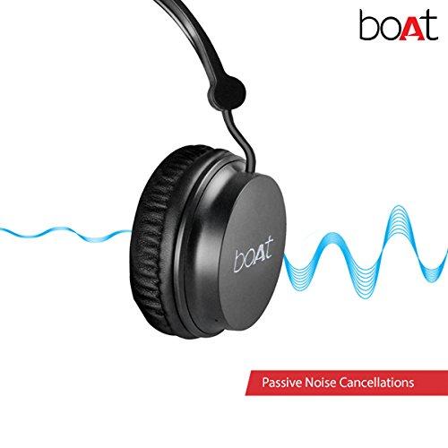 Boat Rockerz 400 On-Ear Bluetooth Headphones (Carbon Black)