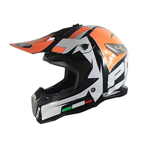 Casco moto da fuoristrada per giovani Casco integrale per moto da cross per ciclismo, Moto R