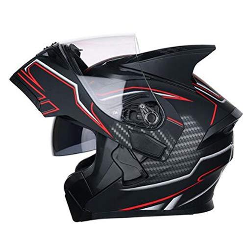 Double Lens Flip Up Motocross Helme Mit Interner Sonnenblende Professionelle Modulare Racing Helm Abs Materialsicherheit Vollgesichtsmotorradhelme -