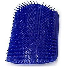 Wovemster Massager Comb Brush - Hairy Animal Bun Set Pet Eliminación de Cabello Muerto (Azul)