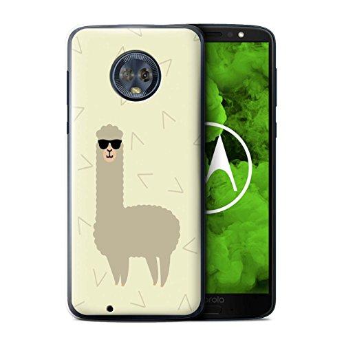Stuff4® Hülle/Case für Motorola Moto G6 Plus 2018 / Coole Sonnenbrille Muster/Karikatur Alpaka Kollektion