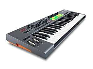 novation launchkey 49 49 key usb ios midi keyboard controller with synth weighted keys amazon. Black Bedroom Furniture Sets. Home Design Ideas