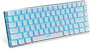 Ajazz AK33 Mechanical keyboard 82 Keys USB Wired Gaming Keyboard with Backligh for Tablet Desktop Computer (Bl