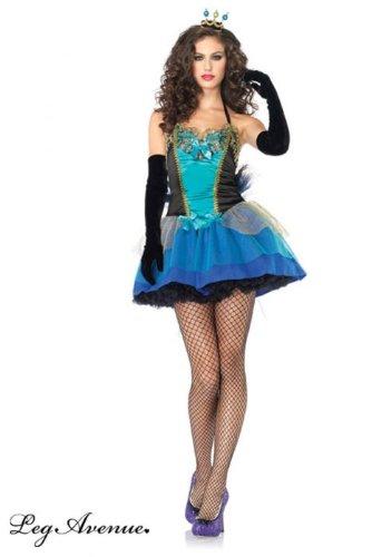Imagen de sexy belleza azul pavo real de la mujer disfraz