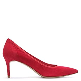 DANIEL aloise Red Suede Court Shoes 37 Red Suede