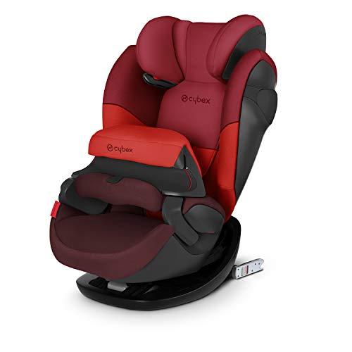 CYBEX Silver Siège Auto 2-en-1 Pallas M-Fix, Adapté aux Voitures Avec ou Sans Isofix, Groupe 1/2/3 (9-36 kg), De 9 Mois à 12 Ans Environ, Rumba Red