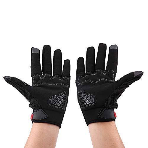 Guanti moto, paio di guanti touch screen a dito pieno per moto Ciclismo Racing Sport outdoor traspiranti(XL-Nero)