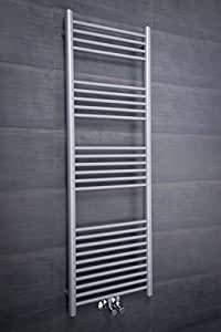 Nassjo Scaldasalviette Moderno Design 1450 x 500 - Silver