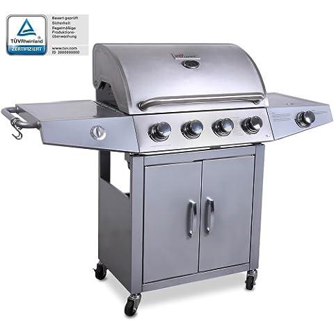 Broil-master Barbecue barbeque a gas 4+1 per Italia colore argento