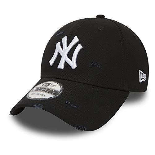 New Era 9Forty Strapback Cap MLB New York Yankees Ny Distressed Black df57a4620aa4