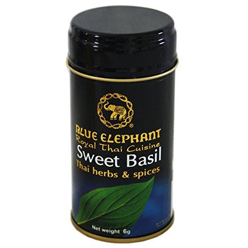 Blue Elephant 6g Thailaendisches Basilikum getrocknet (grob zerkleinert) fuer Thai Curry