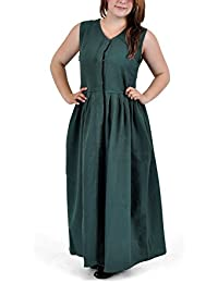 Medieval LARP Costume - Peasant Dress Leanda - Simple Cotton Frock - Green