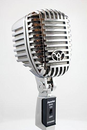 scher Retro Syle Dynamisches Mikrofon + Tischhalter ()