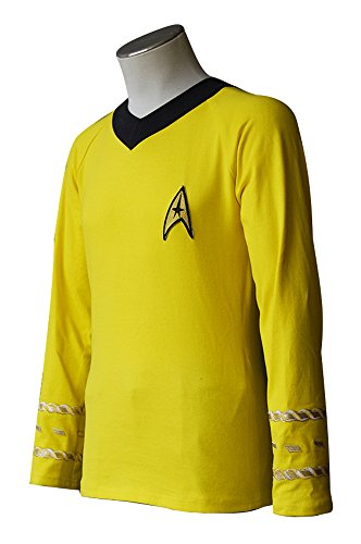 Star Trek TOS The Original Series Kirk Yellow Shirt Uniform Cosplay Kostüm Herren (Uniform Trek Star Tos)