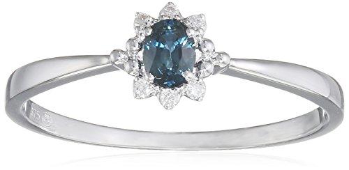 Tous mes bijoux anillos Mujer oro blanco 9 k (375) zafiro