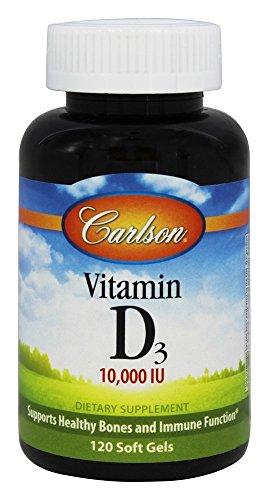 Carlson Labs, Vitamin D3, 10,000 IU, 120 Soft Gels