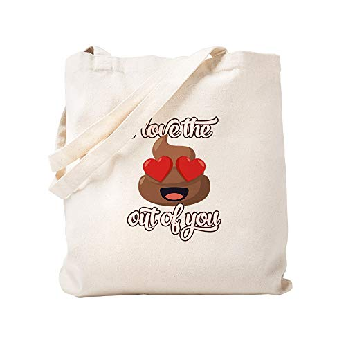 CafePress Emoji Love The Poop Out of You Tragetasche, canvas, khaki, S
