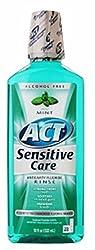 ACT Total Care Anticavity Fluoride Mouthwash Sensitive Formula Mild Mint 18 oz