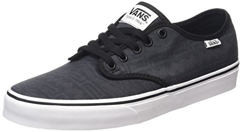 Vans Camden Deluxe, Baskets Basses Homme Noir (Geo Tribal/Black/White)