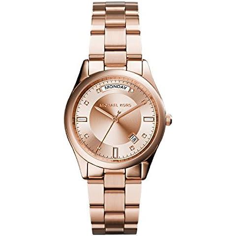 Michael Kors MK6071 - Reloj de pulsera Mujer, Acero inoxidable, color Oro Rosa