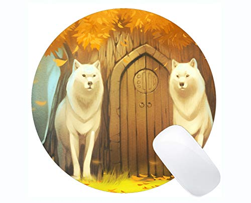 Mat, Tierwolfstatue Mousepad Rutschfester Gummischutz ()