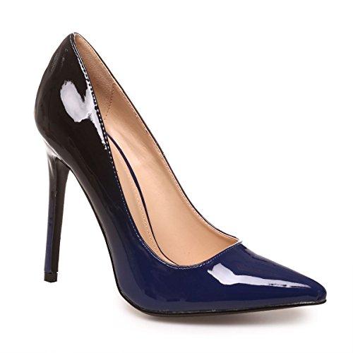 La Modeuse - Escarpin stiletto vernis Bleu