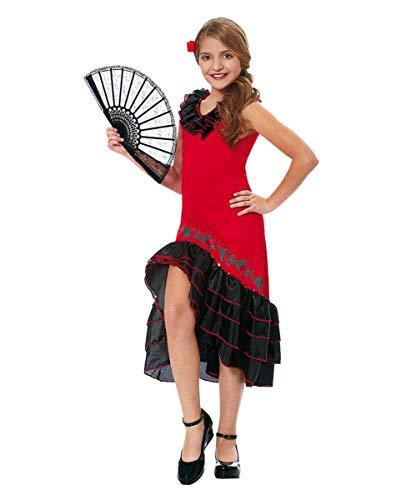 Horror-Shop Flamenco Tänzerin Kinderkostüm für Schulfasching & Tanzgruppen S