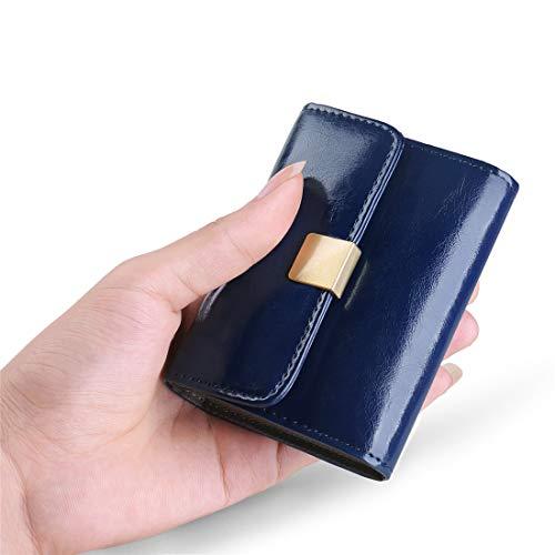 817c881b03677 Huztencor Leder Kreditkartenetui Damen klein Geldbeutel mit RFID Schutz Portemonnaie  Geldbörse Karten Mini Münze Portmonee Brieftasche