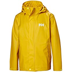 Helly Hansen Jr Moss Chaqueta Impermeable, Unisex niños, Essential Yellow, 16 YRS